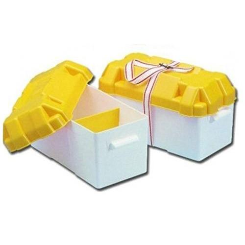 Łódź rybacka Box na batériu bielo/žltý
